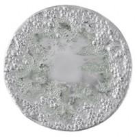 Mariposa Round Bubble Platter with Aqua Patina