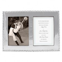 Mariposa Beaded Double Picture Frame - 5 x 7
