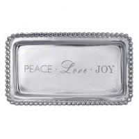 Mariposa Statement Tray - Peace - Love - Joy