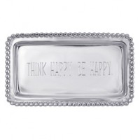 Mariposa Statement Tray - Think Happy. Be Happy