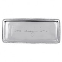 Mariposa Long Statement Tray - Live Laugh Love