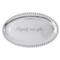 Mariposa String of Pearls Small Oval Platter - Happily Ever After
