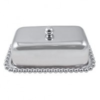 Mariposa Pearled Covered Butter Dish