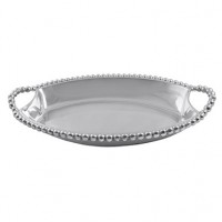 Mariposa Pearled Deep Dish Server - Medium