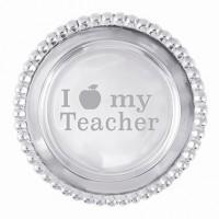 Mariposa Beaded Wine Plate - I Apple My Teacher