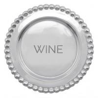 Mariposa Beaded Wine Plate - Wine