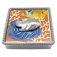 Mariposa Napkin Holder w/Tropical Fish Weight - Available from SilverGallery.com
