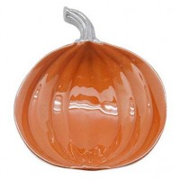 Mariposa Pumpkin Dish - Orange Enamel