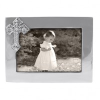 Mariposa Cross Horizontal Picture Frame - 4 x 6 - Have it engraved at SilverGallery.com