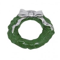 Mariposa Wreath Napkin Weight - Green Enamel