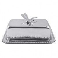 Mariposa Dragonfly Butter Dish - Available from SilverGallery.com