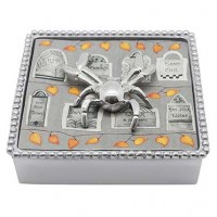 Mariposa Halloween Napkin Box with Spider Napkin Weight