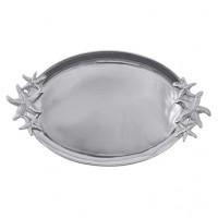 Mariposa Starfish Handled Oval Platter