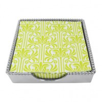 Mariposa Lilly Beaded Napkin Box - Luncheon Napkins