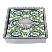 Mariposa Jacki Pearled Beaded Napkin Box