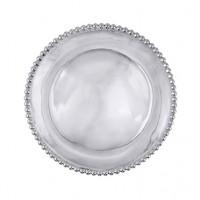 Mariposa String of Pearls Round Platter - Engravable