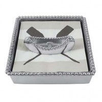 Mariposa Beaded Canoe Napkin Box
