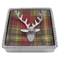 Mariposa Deer Napkin Box with Stag Napkin Weight
