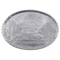 Mariposa Basketweave Oval Tray