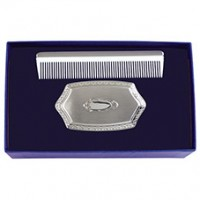 Salisbury Military Pewter Comb & Brush Set
