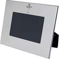 salisbury pewter wide border horizontal frame wcross 4 x 6