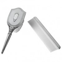 Salisbury Girls Pewter Comb & Brush Set