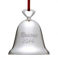 Reed & Barton 2014 Engraved Bell Ornament - Silverplate