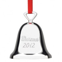 Reed & Barton 2012 Engraved Bell Ornament - Silverplate