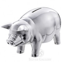 Reed and Barton Classic Silver Piggy Bank