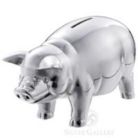 Reed & Barton Classic Silver Piggy Bank