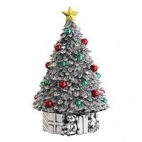 "Reed & Barton Revolving Classic Christmas Tree Musical - Plays ""Oh Tannenbaum"""