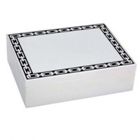 Reed & Barton Silver Link Treasure Box - Midnight