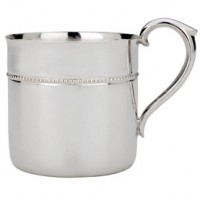 Reed & Barton Beaded Baby Cup