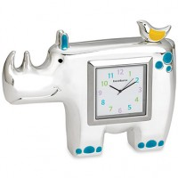 Reed & Barton Jungle Parade Rhino Children's Clock