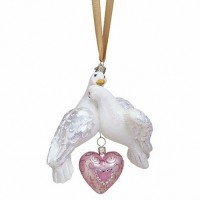 Reed & Barton Two Turtle Doves Ornament