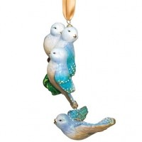 Reed & Barton Four Calling Birds Ornament