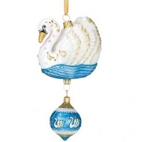 Reed & Barton Seven Swans A-Swimming Ornament