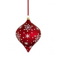 Reed & Barton Jolly Santa Snowflake Ornament - Available from SilverGallery.com