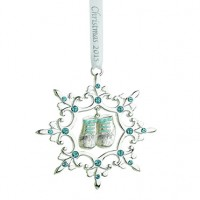 Reed & Barton Baby's 1st Christmas Snowflake Ornament - Blue