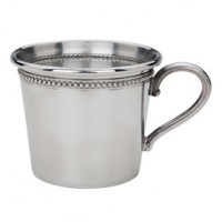 Reed & Barton Pewter Baby Beads Rolled Edge Baby Cup