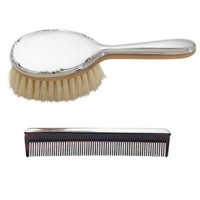 Reed & Barton Pewter Georgia Girl's Brush and Comb Set