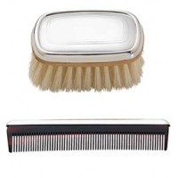 Reed & Barton Pewter Kent Boy's Brush and Comb Set