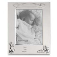 Reed & Barton Bunny Birth Record Frame