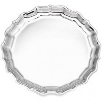 Reed & Barton Sterling Silver Classic Chippendale Tray - 12""