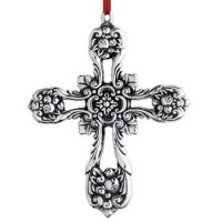 Reed & Barton Sterling Francis I Pierced Cross Ornament 2014 - 2nd Edition