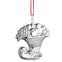 Sterling Francis I Ornament, Cornucopia - 2015 18th Edition