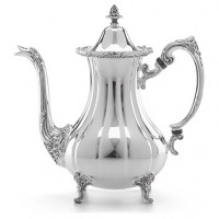 Reed & Barton Burgundy Pattern Footed Silverplated Coffee Pot