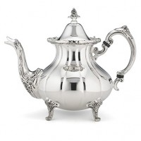 Reed & Barton Burgundy Pattern Footed Silverplated Teapot