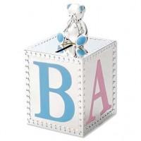 Reed & Barton Gingham Bear Baby Bank