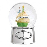Reed & Barton Let's Celebrate Happy Birthday Snowglobe
